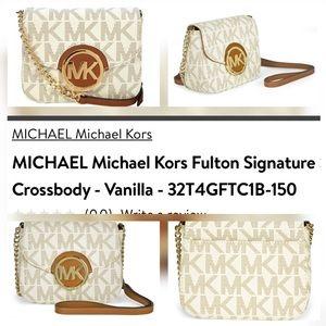 Michael Kors Fulton Signature Crossbody Bag, Small